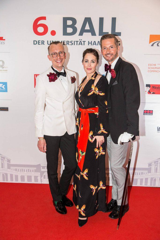 Tim Engelke, Annika de Buhr, Guido Dührkopp auf dem Red Carpet