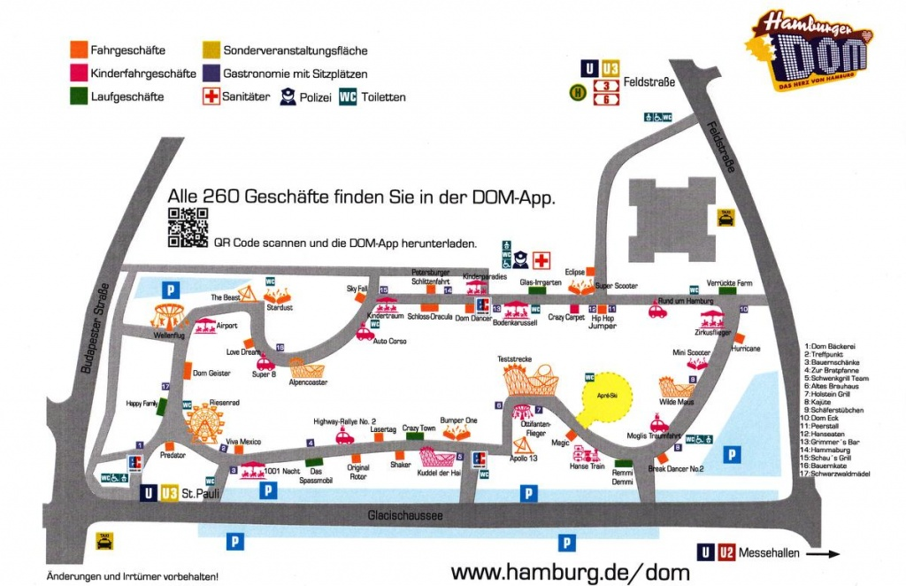 Hamburger Winterdom Lageplan