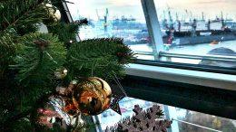Blick auf die Elbe vom Hotel Hafen Hamburg