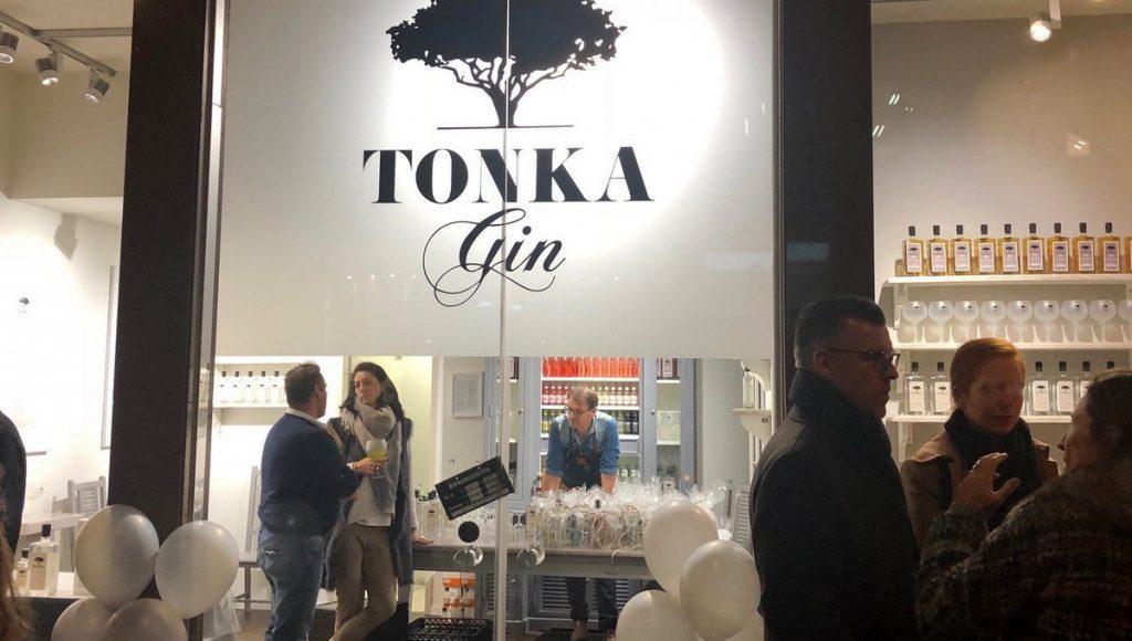 Blick auf den Tonka Pop up Store in Hamburg