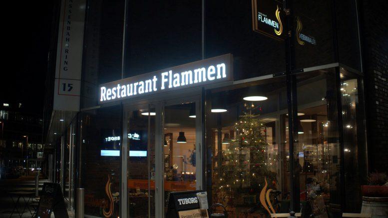 Das Grillrestaurant Flammen am Straßenbahnring