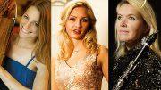 Drei Musikerinnen beim Hamburger Serenadenkonzert