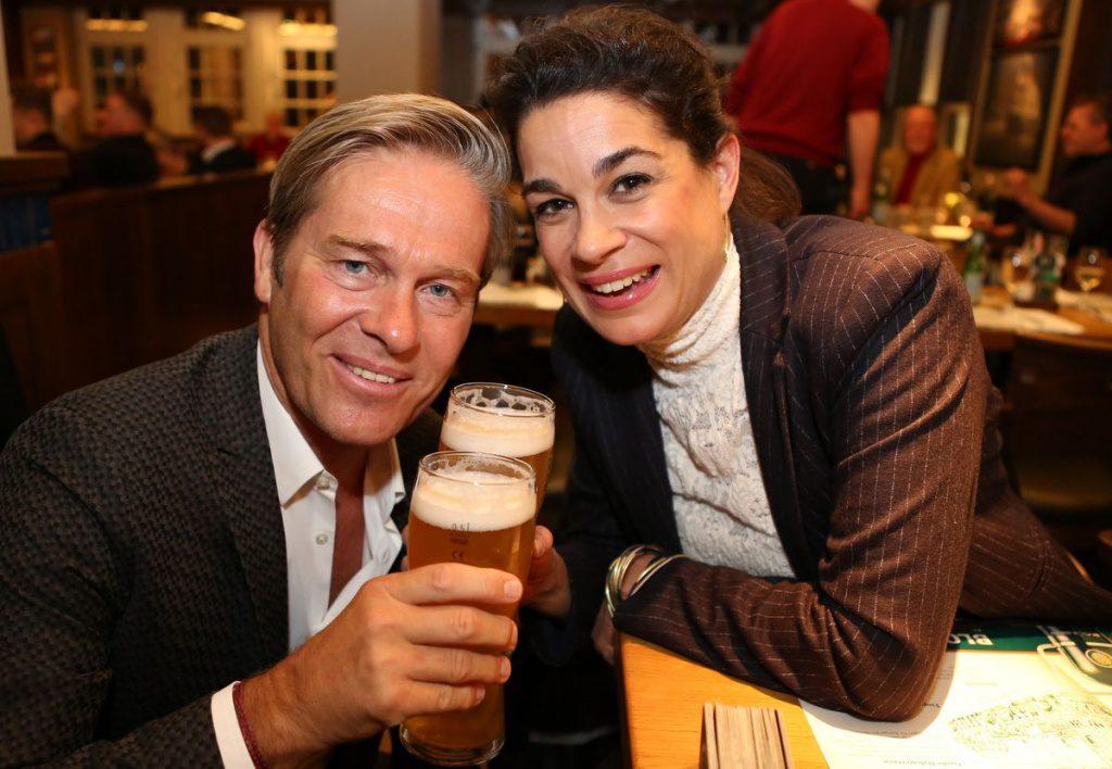 Gäste im Blockbräu beim Hamburger Senatsbock Anstich 2019