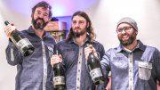 Drei Winzer aus Franken mit ihren Stollenweine