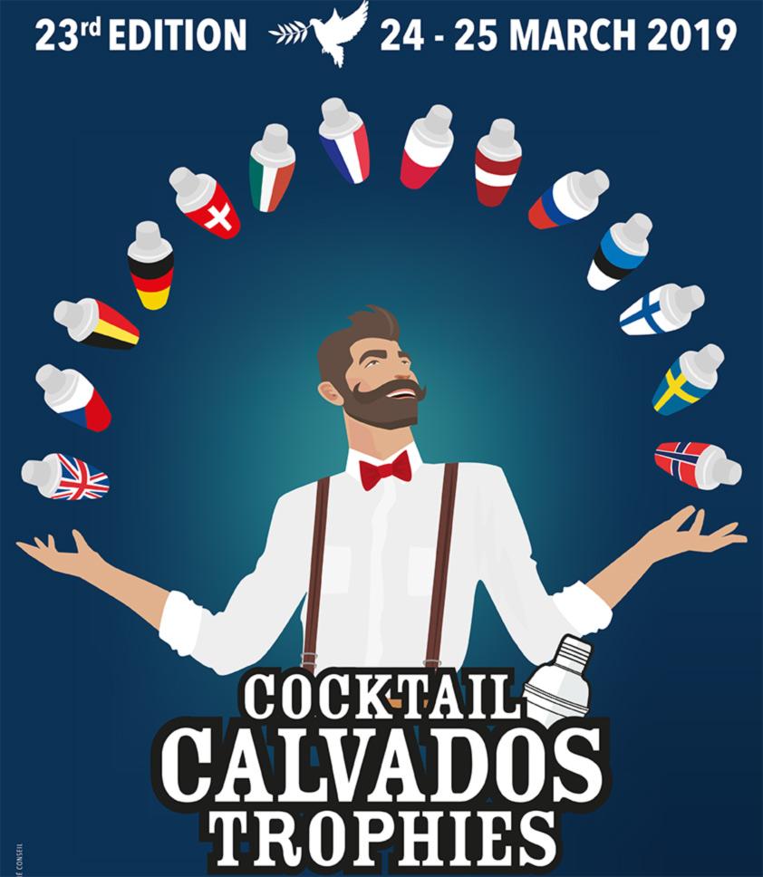 Poster für den Calvados Cocktail Wettbewerb