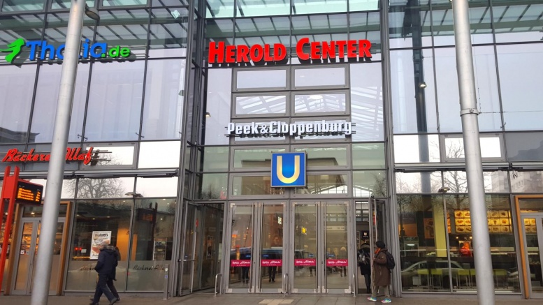 Eingang zum Heroldcenter