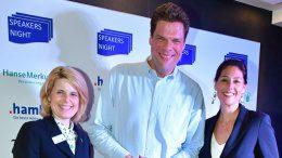 Gruppenbild mit Tetje Mierendorf und zwei Frauen