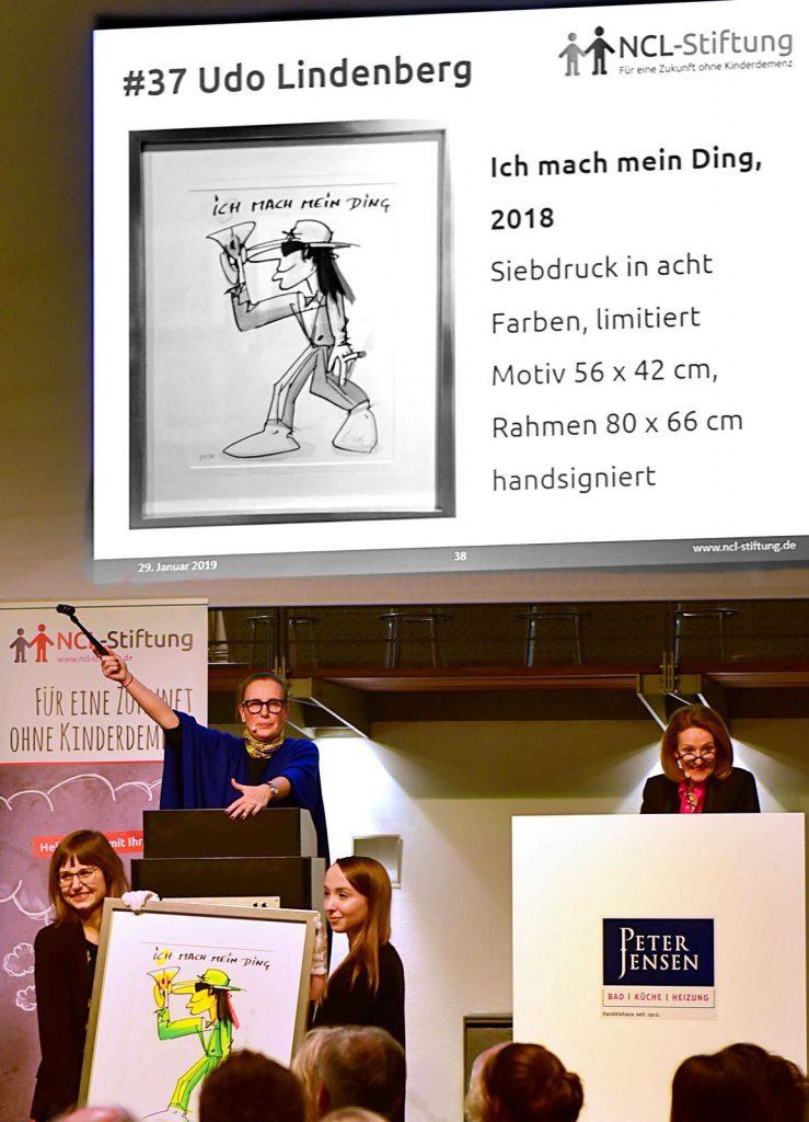 Ein Udo Lindenberg Bild wird versteigert