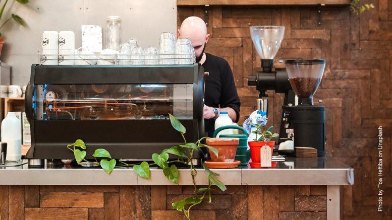 Coffeeshop mit Barista