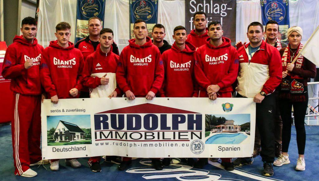 Mannschaftsfoto Hamburg Giants in Chemnitz