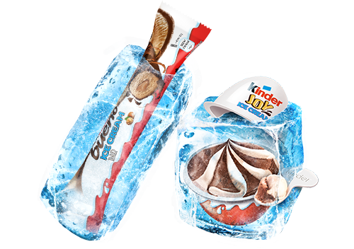 KINDER Icecream im Eisblock