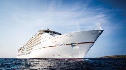 Ein Kreuzfahrschiff die Europa 2
