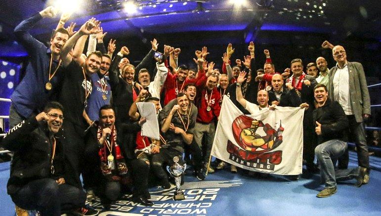 Mannschaftsfoto Hamburg Giants im Ring