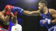 Boxer beim Kampf im Ring in Hamburg