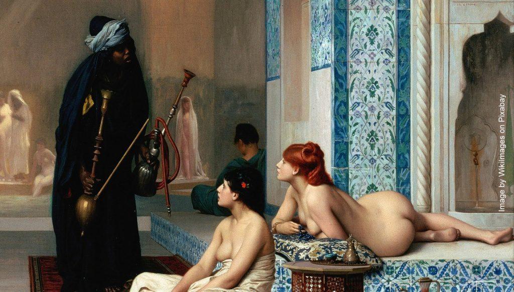 Shisha in einem Gemälde