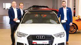 Drei Autoverkäufer bei Auto Wichert