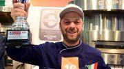 Der Deutsche Teilnehmer der Pizza-Weltmeisterschaft 2019 in Parma auf der Internorga