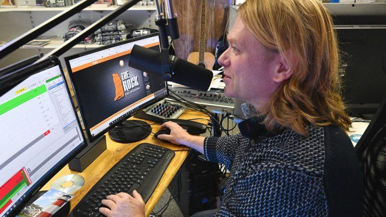 Thore Laufenberg im Radiostudio