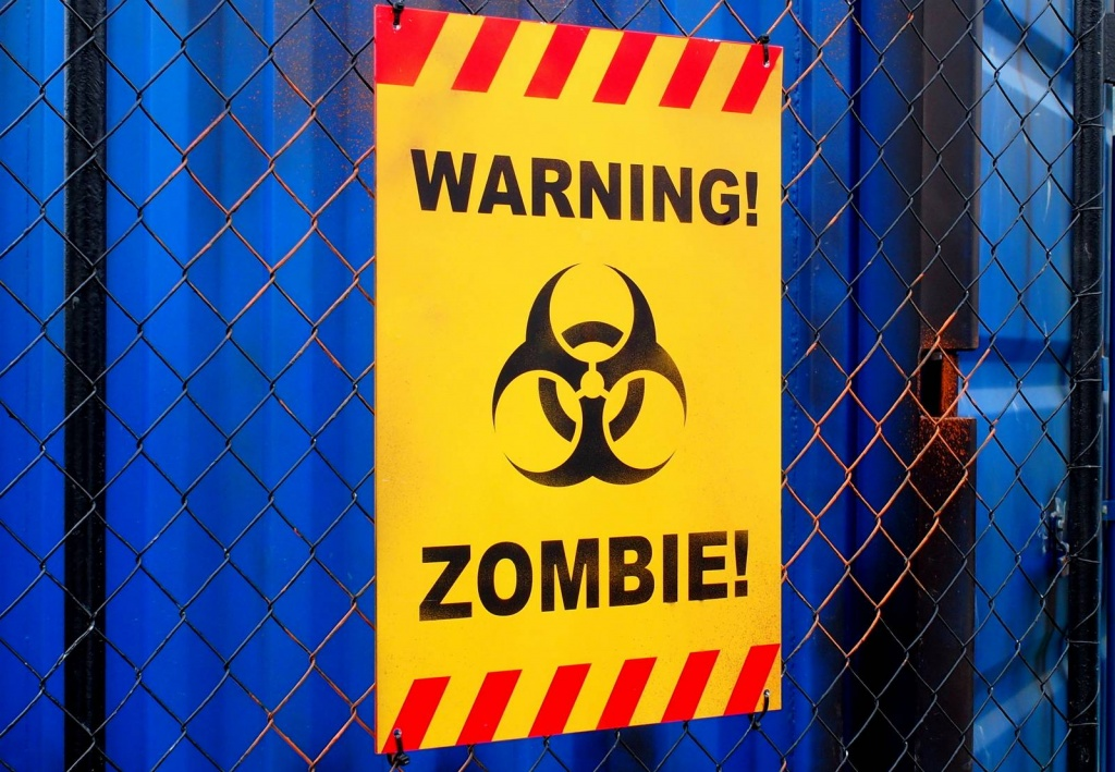 Zombie Warnschild