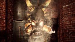 Eine Voodoo Maske verbreitet Angst und Schrecken