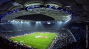 Volksparkstadion hier spielt der HSV in Hamburg