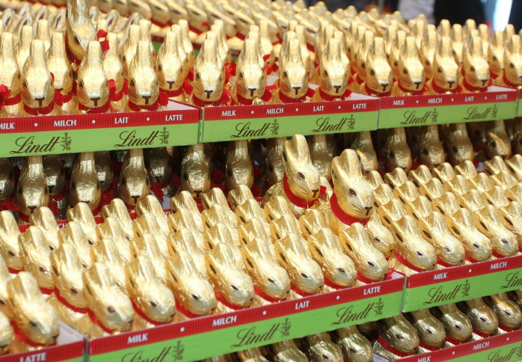 Lindt Goldhasen in der Europa Passage