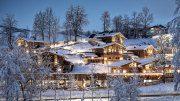Aussenansicht im Winter Chaletdorf Prechtlgut