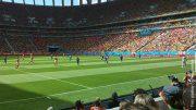 Ein Fußballstadion