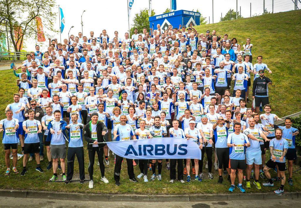 Teilnehmer B2B Run Hamburg Volksparkstadion