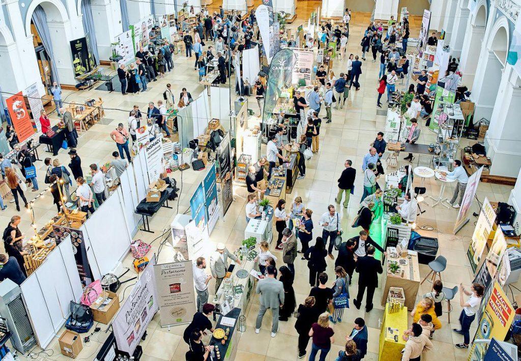 Blick in die Ausstellung des Food Innovation Camp 2019