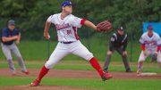 Baseballspieler Kevin Riello in Hamburg