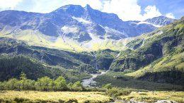 Bergblick in den Alpen