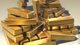 Viele große Goldbarren
