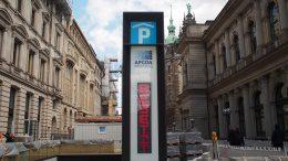 Die Infoanlage für eine Tiefgarage in Hamburg