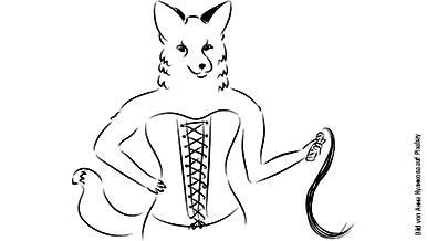Erotische Skizze einer Frau