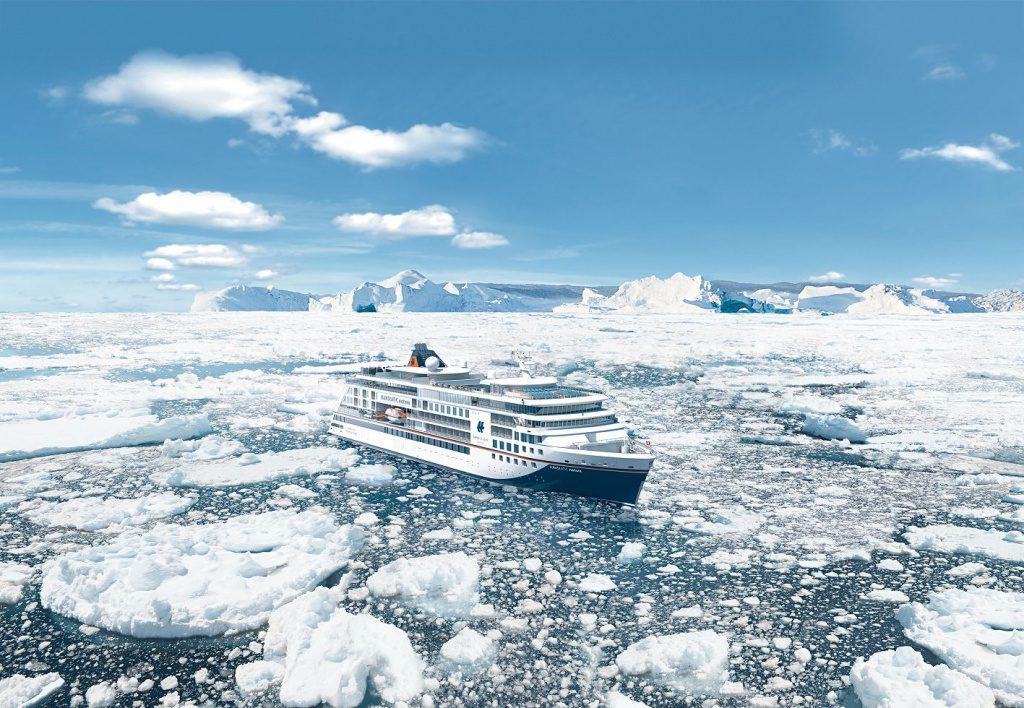 Das Hapag-Lloyd Expeditionsschiff im Eis