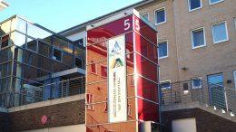 Eingagn des Hostel Stinffang