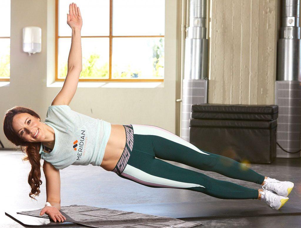 Jasmin Wagener beim Workout