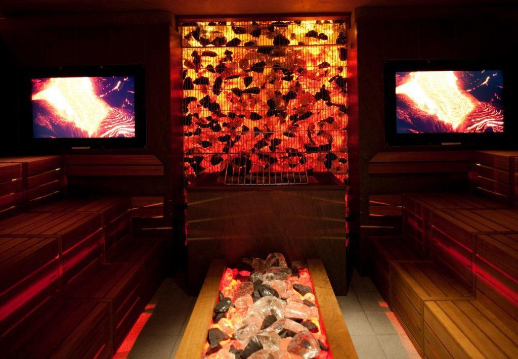 Eine Lava Sauna