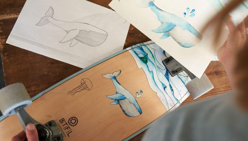 So entsteht ein Longboard Design