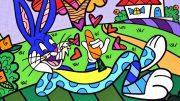 Pop Art Bild von Romero Britto Bugs Bunny