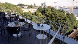Das Rooftop des Hotel Hafen Hamburg