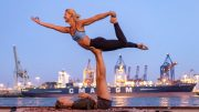 Yoga im Hafen