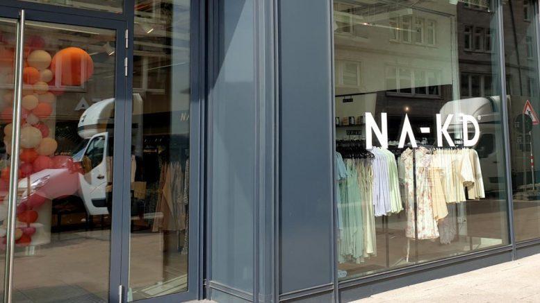 Ladenansicht NA-KD Pop up Store