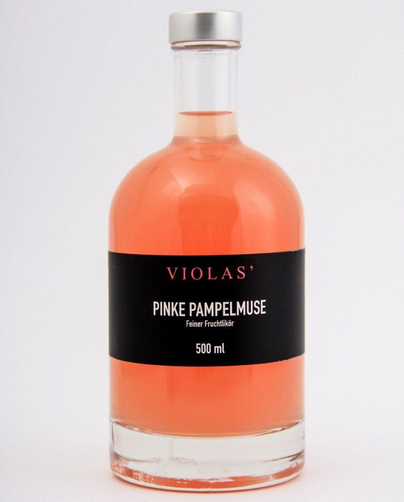 Pinke Pampelmuse Flasche von Violas'