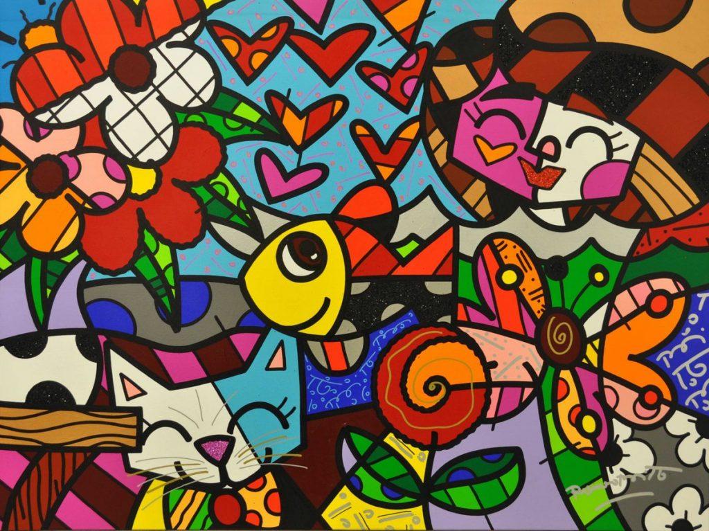 Pop Art Bild von Romero Britto