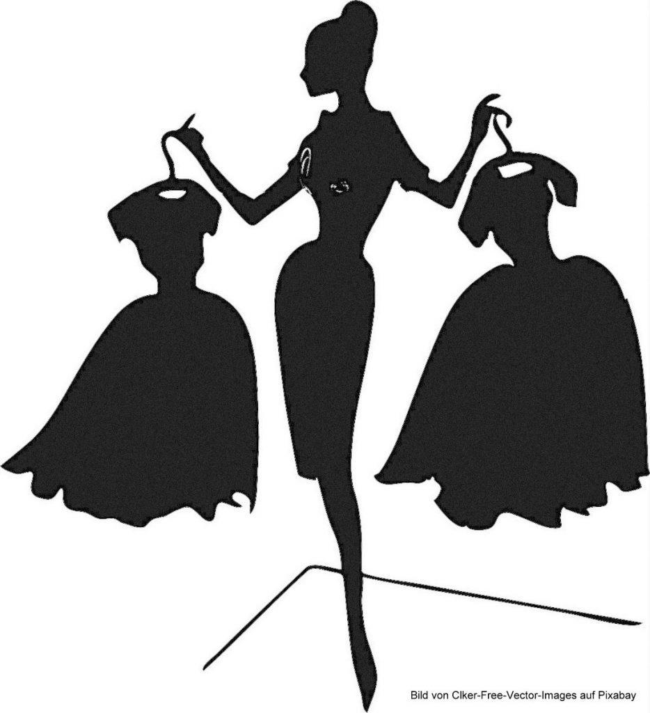 Ein Kleid auswählen Illustration
