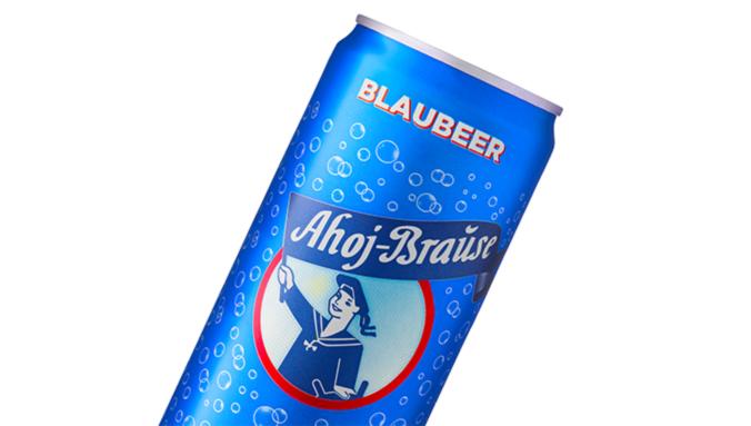 Eine Dose Ahoj-Brause Brause Blaubeer