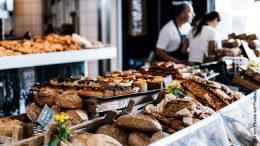Brot und Backwaren in einer Bäckerei