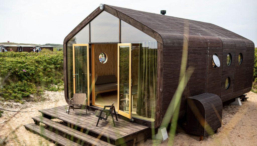 Tiny House als Ferienhaus auf der Helgoländer Düne Typ Family